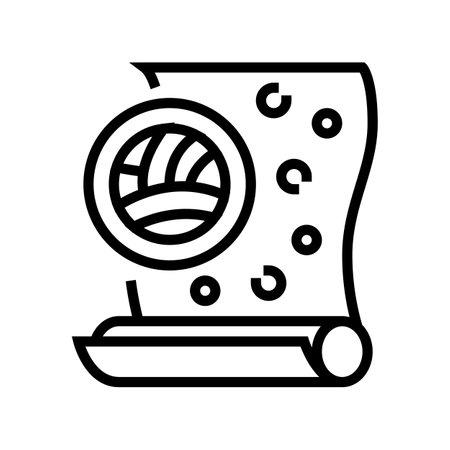 velor wallpapper line icon vector. velor wallpapper sign. isolated contour symbol black illustration