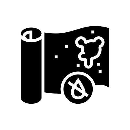 non-waterproof wallpaper glyph icon vector. non-waterproof wallpaper sign. isolated contour symbol black illustration