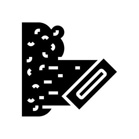 liquid wallpaper glyph icon vector. liquid wallpaper sign. isolated contour symbol black illustration