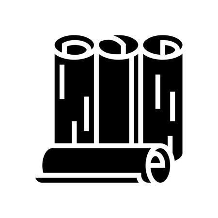 rolls wallpaper glyph icon vector. rolls wallpaper sign. isolated contour symbol black illustration