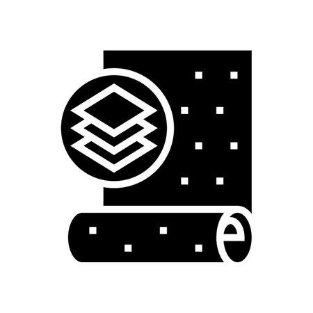 non-woven wallpaper glyph icon vector. non-woven wallpaper sign. isolated contour symbol black illustration