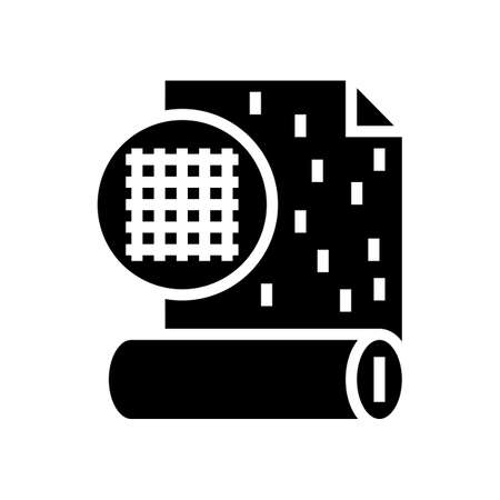 wallpaper glyph icon vector. wallpaper sign. isolated contour symbol black illustration