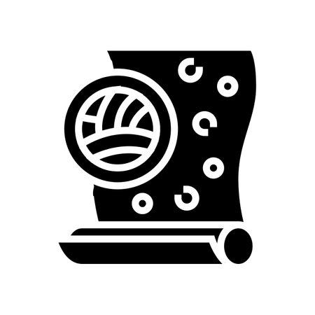 velor wallpapper glyph icon vector. velor wallpapper sign. isolated contour symbol black illustration Vecteurs