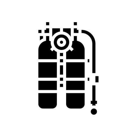 scuba diver equipment glyph icon vector. scuba diver equipment sign. isolated contour symbol black illustration