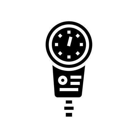 depth gauge glyph icon vector. depth gauge sign. isolated contour symbol black illustration