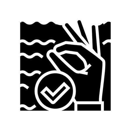 ok diver gesture glyph icon vector. ok diver gesture sign. isolated contour symbol black illustration Ilustrace