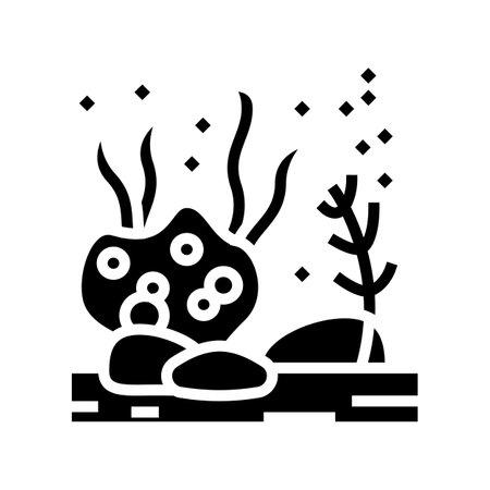 sea bottom glyph icon vector. sea bottom sign. isolated contour symbol black illustration