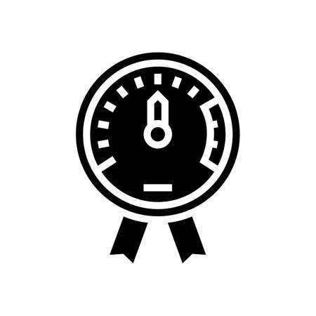 project execution on time glyph icon vector. project execution on time sign. isolated contour symbol black illustration