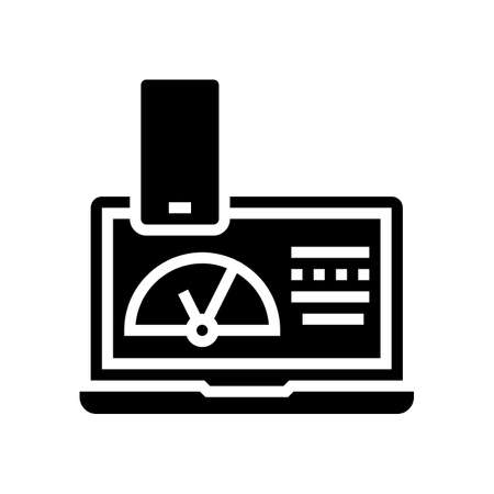 working process electronic devices glyph icon vector. working process electronic devices sign. isolated contour symbol black illustration Ilustrace