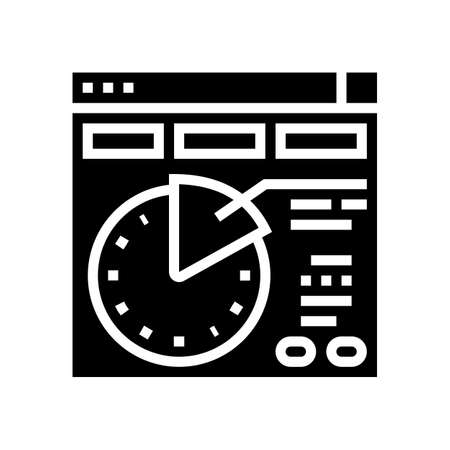 time planning glyph icon vector. time planning sign. isolated contour symbol black illustration