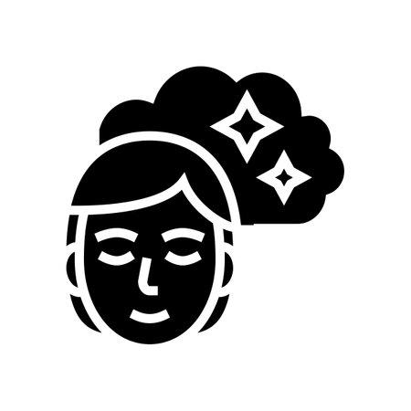 woman nostalgia glyph icon vector. woman nostalgia sign. isolated contour symbol black illustration 일러스트