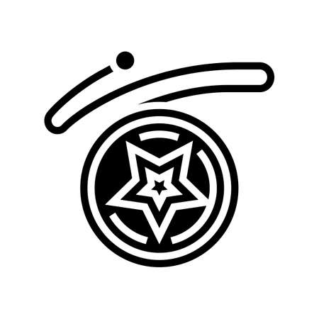 yo-yo play tool glyph icon vector. yo-yo play tool sign. isolated contour symbol black illustration