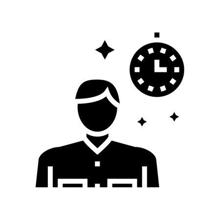 human nostalgia glyph icon vector. human nostalgia sign. isolated contour symbol black illustration