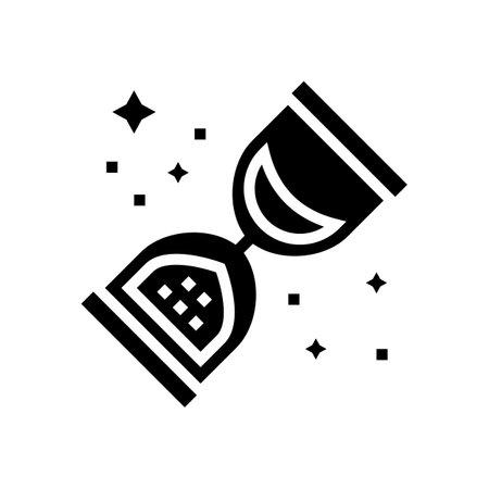 retro sandglass glyph icon vector. retro sandglass sign. isolated contour symbol black illustration