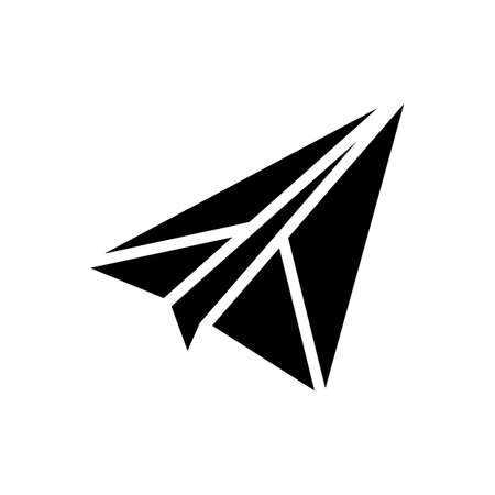 paper airplane glyph icon vector. paper airplane sign. isolated contour symbol black illustration Ilustrace
