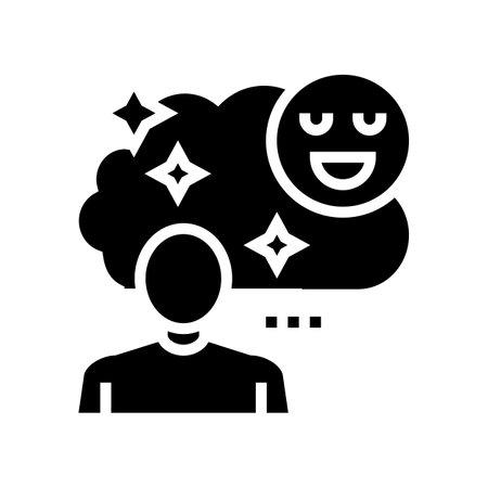 childhood nostalgia glyph icon vector. childhood nostalgia sign. isolated contour symbol black illustration 일러스트