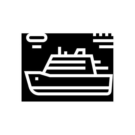 ship modeling glyph icon vector. ship modeling sign. isolated contour symbol black illustration