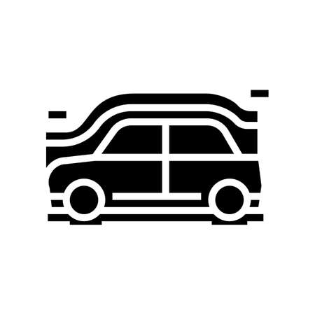 car aerodynamics test glyph icon vector. car aerodynamics test sign. isolated contour symbol black illustration 일러스트