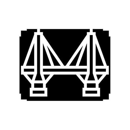 bridge modeling glyph icon vector. bridge modeling sign. isolated contour symbol black illustration 일러스트