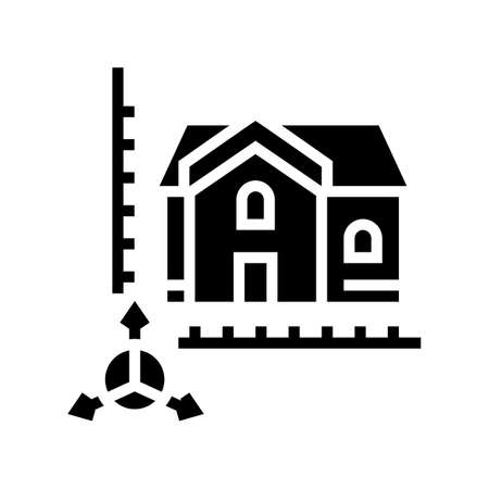 house construction modeling glyph icon vector. house construction modeling sign. isolated contour symbol black illustration