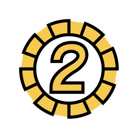 two number color icon vector. two number sign. isolated symbol illustration