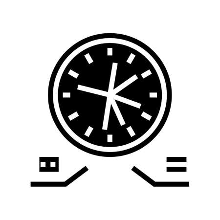 planning work time glyph icon vector. planning work time sign. isolated contour symbol black illustration