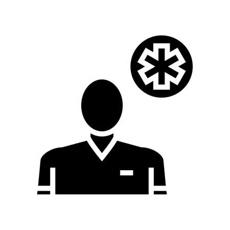emergency medicine glyph icon vector. emergency medicine sign. isolated contour symbol black illustration