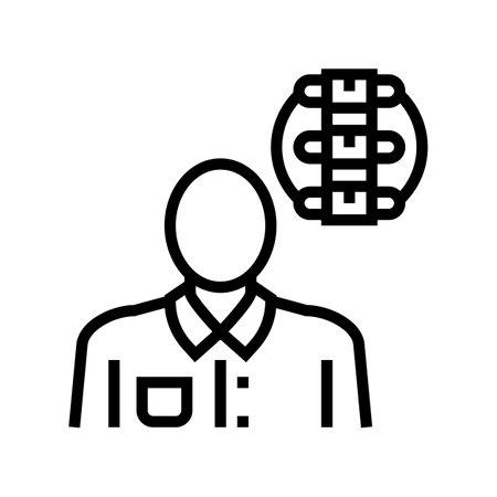rheumatology medical specialist line icon vector. rheumatology medical specialist sign. isolated contour symbol black illustration