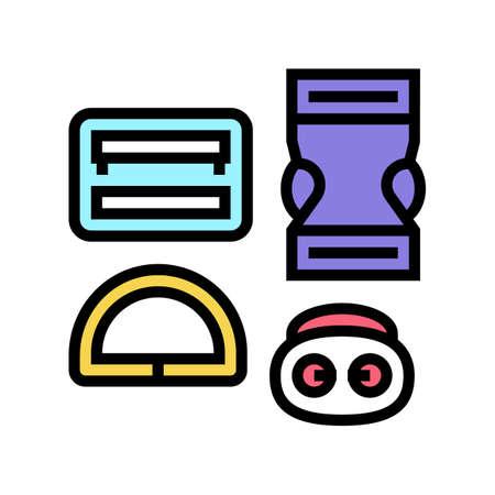 buckles clothes accessories color icon vector. buckles clothes accessories sign. isolated symbol illustration