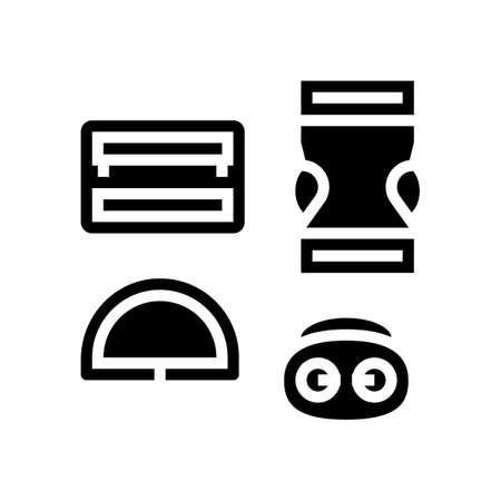 buckles clothes accessories glyph icon vector. buckles clothes accessories sign. isolated contour symbol black illustration