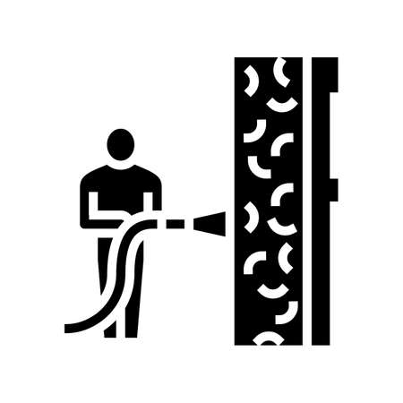 ecowool insulation glyph icon vector. ecowool insulation sign. isolated contour symbol black illustration