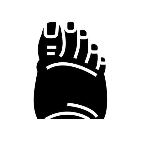 fatty foot edema glyph icon vector. fatty foot edema sign. isolated contour symbol black illustration
