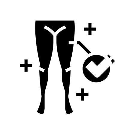 healthy legs glyph icon vector. healthy legs sign. isolated contour symbol black illustration