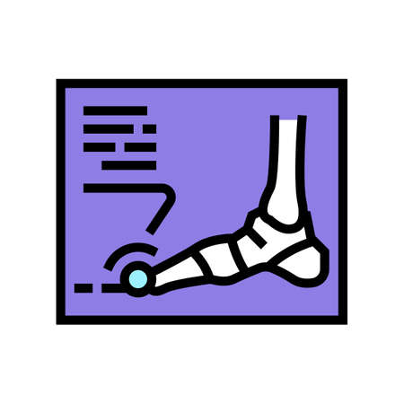 x-ray radiograph of foot gout diesase color icon vector. x-ray radiograph of foot gout diesase sign. isolated symbol illustration