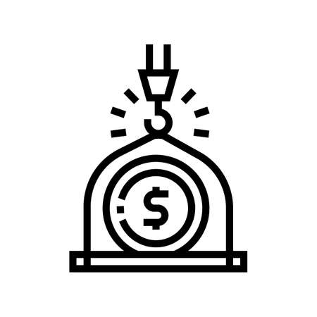 weight of money wealth line icon vector. weight of money wealth sign. isolated contour symbol black illustration