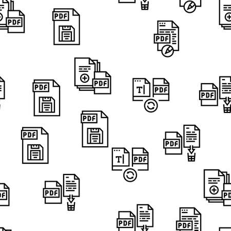 Pdf Electronic File Vector Seamless Pattern Thin Line Illustration