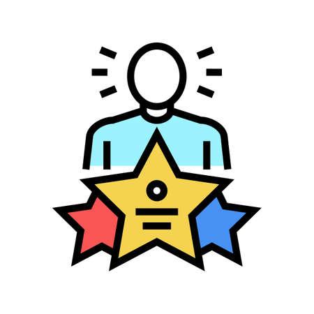 universal expert color icon vector. universal expert sign. isolated symbol illustration Vektorgrafik