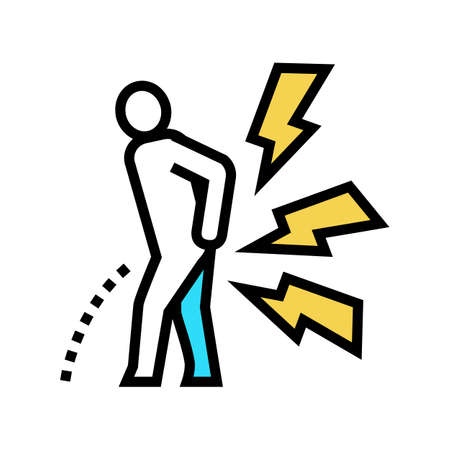 pain when urinating color icon vector. pain when urinating sign. isolated symbol illustration