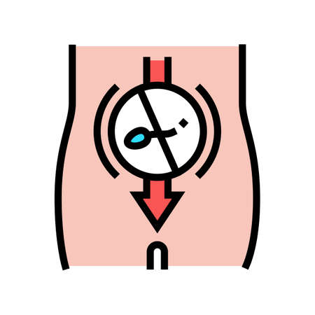 sperm sterilization color icon vector. sperm sterilization sign. isolated symbol illustration