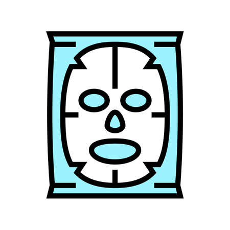 facial mask beauty accessory color icon vector. facial mask beauty accessory sign. isolated symbol illustration