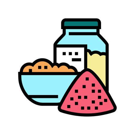 salt for bath color icon vector. salt for bath sign. isolated symbol illustration