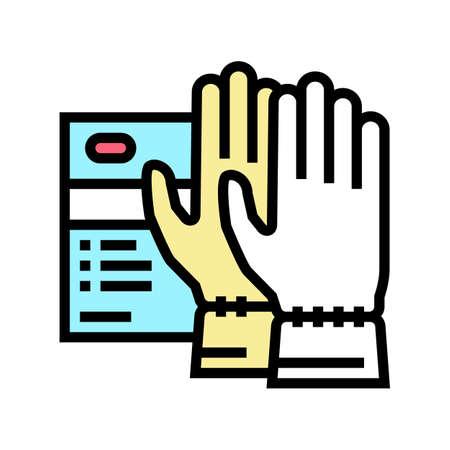special gloves spa salon accessory color icon vector. special gloves spa salon accessory sign. isolated symbol illustration Ilustrace