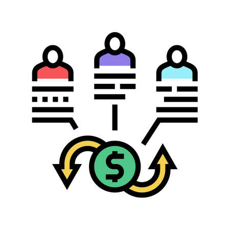 shareholders company share and business color icon vector. shareholders company share and business sign. isolated symbol illustration