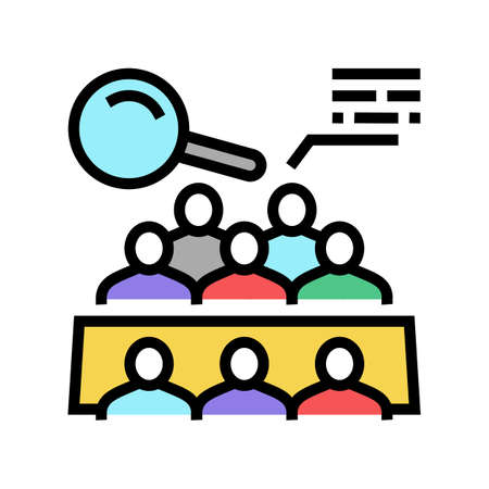 meeting of shareholders color icon vector. meeting of shareholders sign. isolated symbol illustration