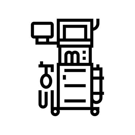 anesthesia machine line icon vector. anesthesia machine sign. isolated contour symbol black illustration Vector Illustration