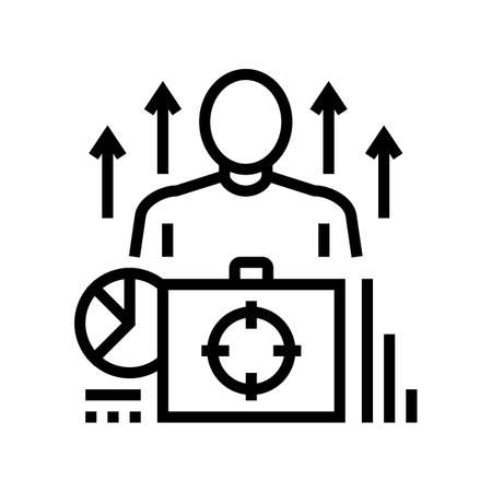 business expert line icon vector. business expert sign. isolated contour symbol black illustration