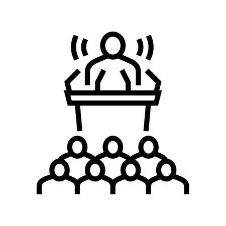 press release line icon vector. press release sign. isolated contour symbol black illustration