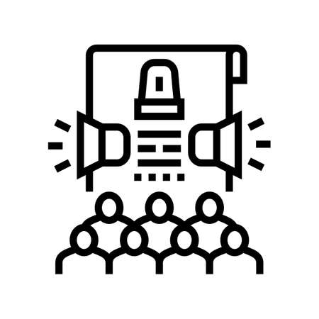 crisis management line icon vector. crisis management sign. isolated contour symbol black illustration