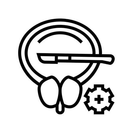 surgery bladder line icon vector. surgery bladder sign. isolated contour symbol black illustration