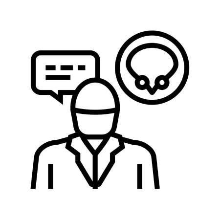 urologist doctor consultation line icon vector. urologist doctor consultation sign. isolated contour symbol black illustration
